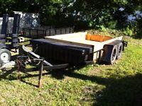Heavy duty utility trailer
