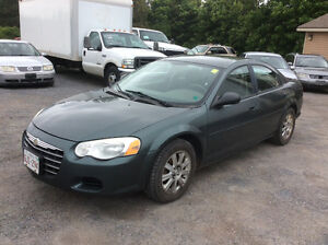 2004 Chrysler Sebring LX V 6 2.7 December MVI 204 kms $1500.00