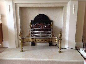Solid Brass Electric Fire