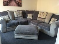 Corner sofa and puffy