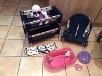 Mamas & Papas Toy Pram, Cot and Baby Chair