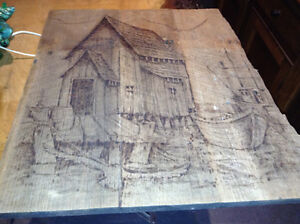 Wood burned art work - for sale