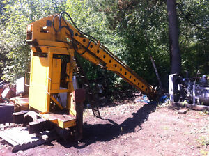 Pitman hydraulic 2 section telescoping stiff boom crane 12000 po