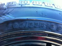Winter Tires and Rims - 205/55R16