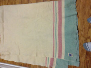 Twin vintage pure wool blanket for sale