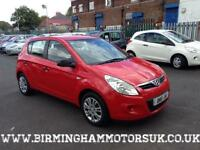 2010 (10 Reg) Hyundai I20 1.2 Classic 5DR Hachback RED + LOW MILES