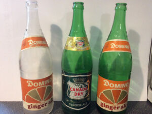 Vintage Dominion and Canada Dry  Pop Bottles