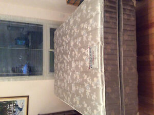 Double Bed, box spring and mattress