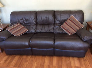 Reclining couch and love seat