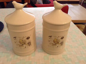 Two ceramic jars / storage containers