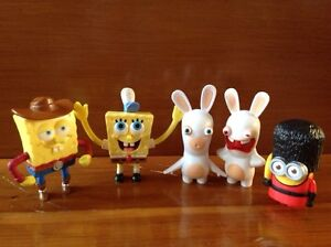 Mixed Set Mcdonalds Toys, Sponge Bob, Minions, Rabbids