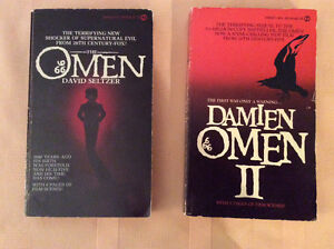 The Omen 1 and The Omen 2 paperback books