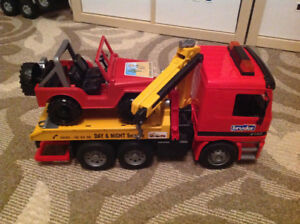 Bruder Tow Truck and Jeep