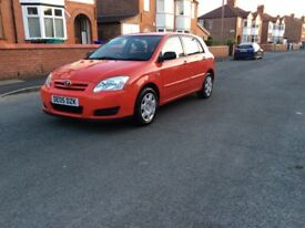 2005 Toyota Corolla 1.4 5dr hatchback petrol manual lady owner low mileage full history £1295