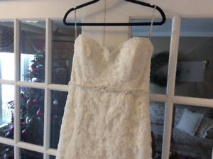 Lace and beads  wedding dress very nice