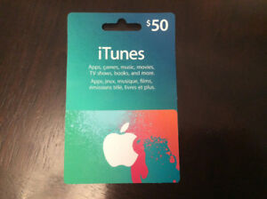 $50 iTunes Gift Card Credit