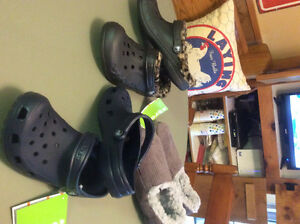 New CROCS and Snoozies Slippers  - Ladies Size 8