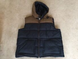 DENIM73 COLLECTION BROWN AND BLUE GILET
