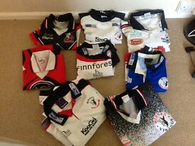 Widnes rugby tops (old )