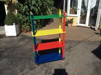 Childs crayon bookcase/shelving
