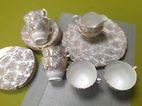 VINTAGE 30's Colcough bone china. Part tea set. 20 PC