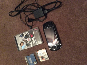 Sony PSP - including charger and 3 games