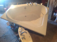 Beautiful like new Whirlpool bath with all faucets, 300 obo