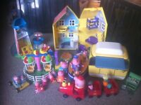 Peppa Toys - large collection including house, train, boat and more