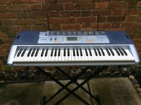 Casio key lighting keyboard LK100 with stand