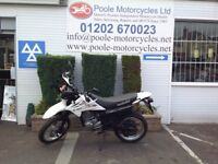 Suzuki drz 125sm with only 10316 miles on the clock