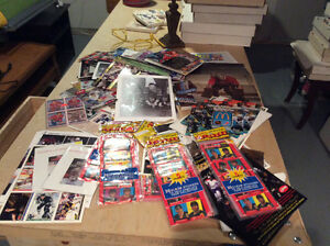 Large lot of hockey baseball and basket ball collectibles