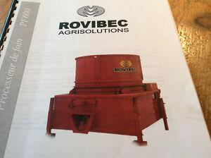 Hachoir Rovibec PF600 / 2 moteurs 10hp