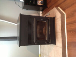 English pellet stove,REDUCED $1500