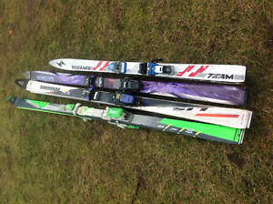 "pairs of downhill skis 128"", 167"", 170""  & 196""  - $10 -$25 each"