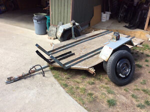 Home built motorcycle trailer