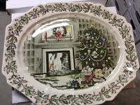 Vintage Johnson Brothers Merry Christmas China