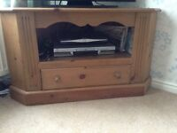 Reclaimed Pine Corner TV Unit