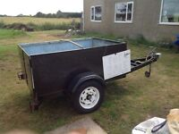 Heavy duty braked trailer ideal for a landrover etc.
