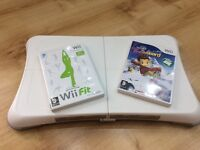 Wii Fit Board plus two games