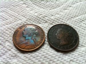 1861 NS...1871 PEI   Cents