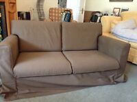 Chocolate brown sofa immaculate condition