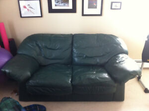 Leather couch and loveseat combo - $400