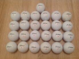 25 TITLEIST DT SOLO GOLF BALLS