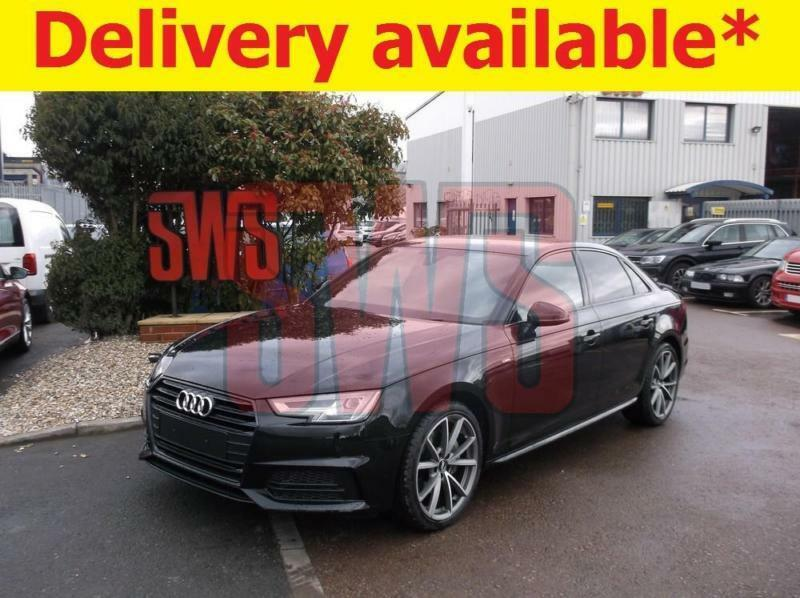 2018 Audi A4 Black Edition 20 Tdi Stronic Damaged On Delivery In