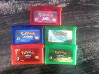 POKEMON GAMES TO SELL GBA RUBY,FIRERED,EMERALD,SAPHIRE,LEAFGREEN