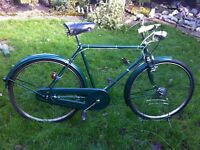"Retro BSA roadster town bike 21"" frame"