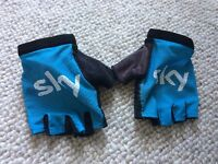 Team Sky Pro Rapha cycling gloves size small