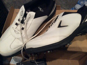 Golfing shoes sizes 9 and 9.5 men's like new