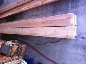 Western Red Cedar S4S 2x8 Knotty Boards