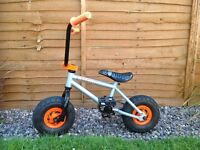 Convict mini bmx bike silver and orange like new adult child
